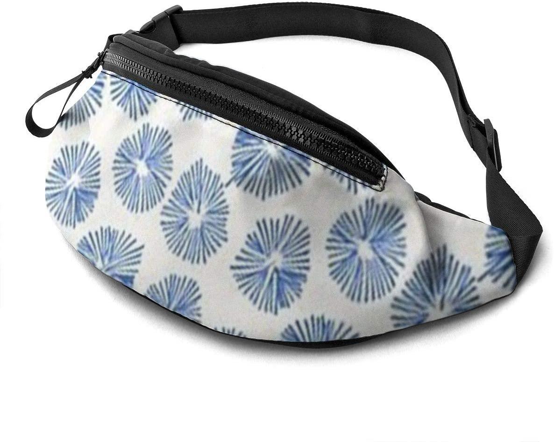 Flower Pattern Fanny Pack For Men Women Waist Pack Bag With Headphone Jack And Zipper Pockets Adjustable Straps