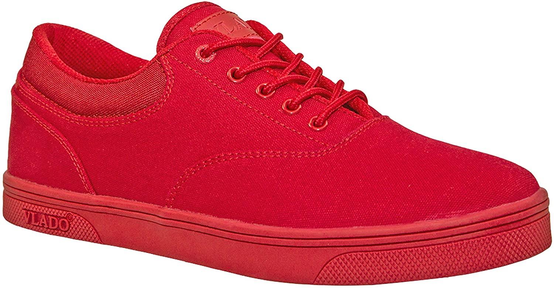 Vlado Footwear Boy's Mono Red Milo Low Top Sneakers Size 5.5