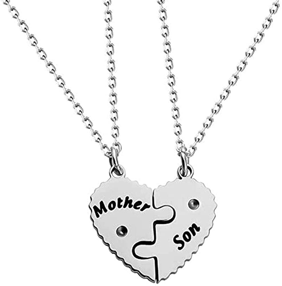 Mother Son Gifts Mother and Son Necklace Set for 2 Mother and Son Matching Jewelry