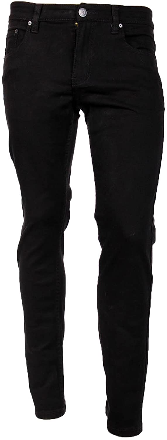 Victorious Men's Skinny Fit Color Jeans-34x30-Black