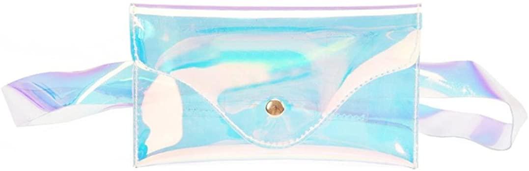 Kimloog Unisex Running Belt Pouch Waterproof Beach Fanny Pack Cross Body Bag with Metal Buckle