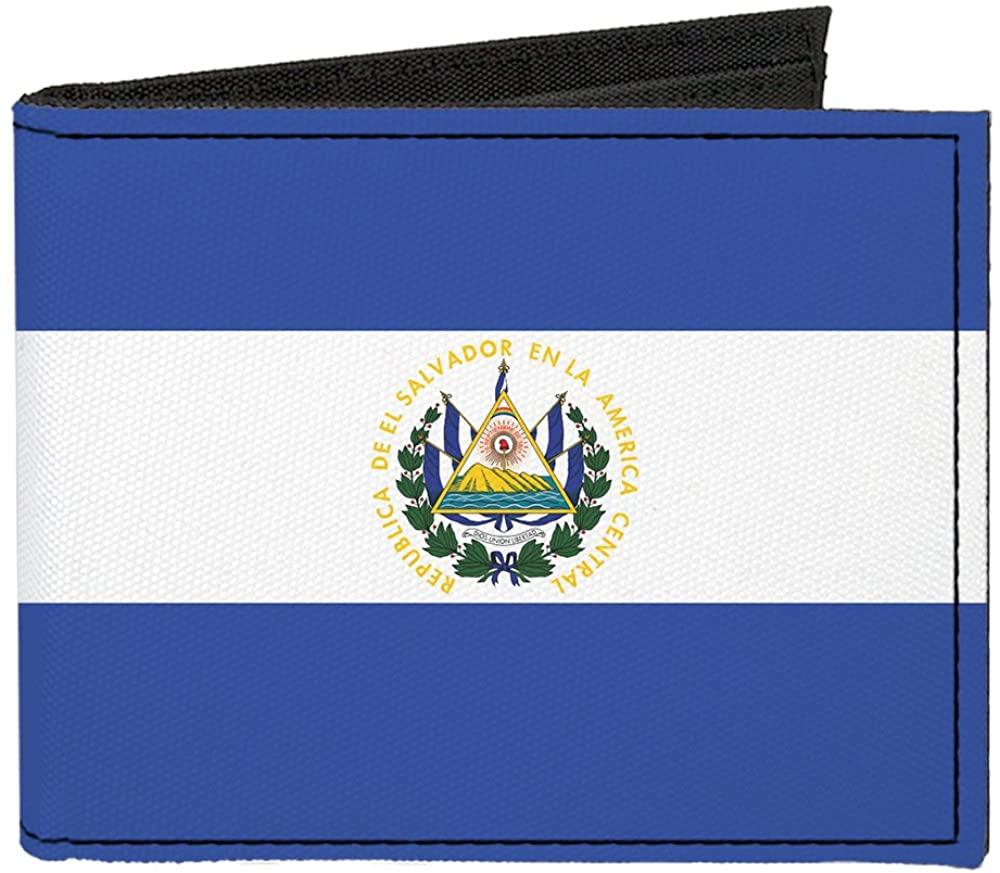 Buckle-Down Canvas Bifold Wallet - El Salvador