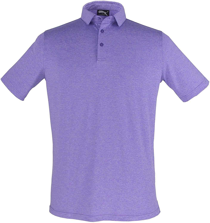 Roarlion Mens Quick Dry Regular-Fit Tech Short Sleeve Golf Polo Shirt