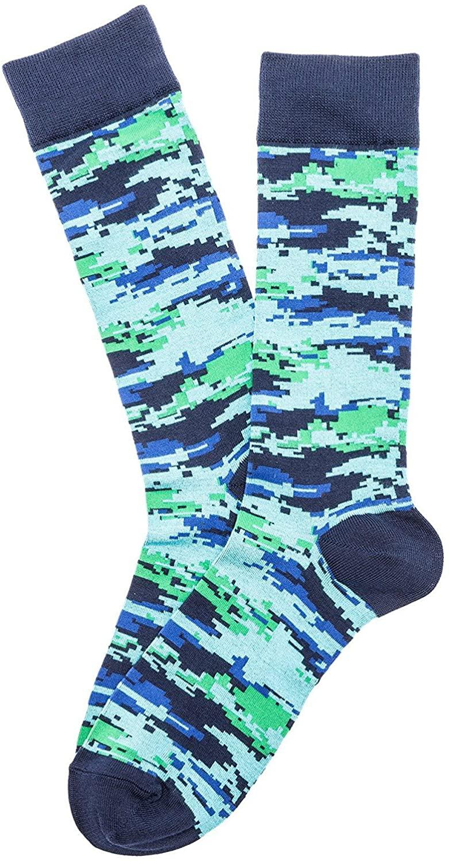 K. Bell Mens Digital Camo Crew Socks