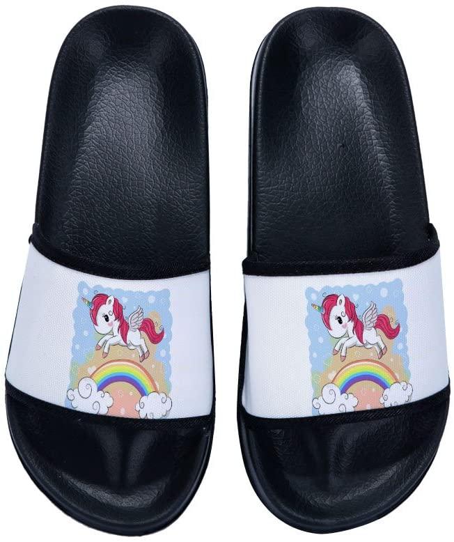 Wilbur Gold Sandals Unicorn for Men Beach Sandals Anti-Slip Bath Slippers Shower Shoes Indoor Floor Slipper