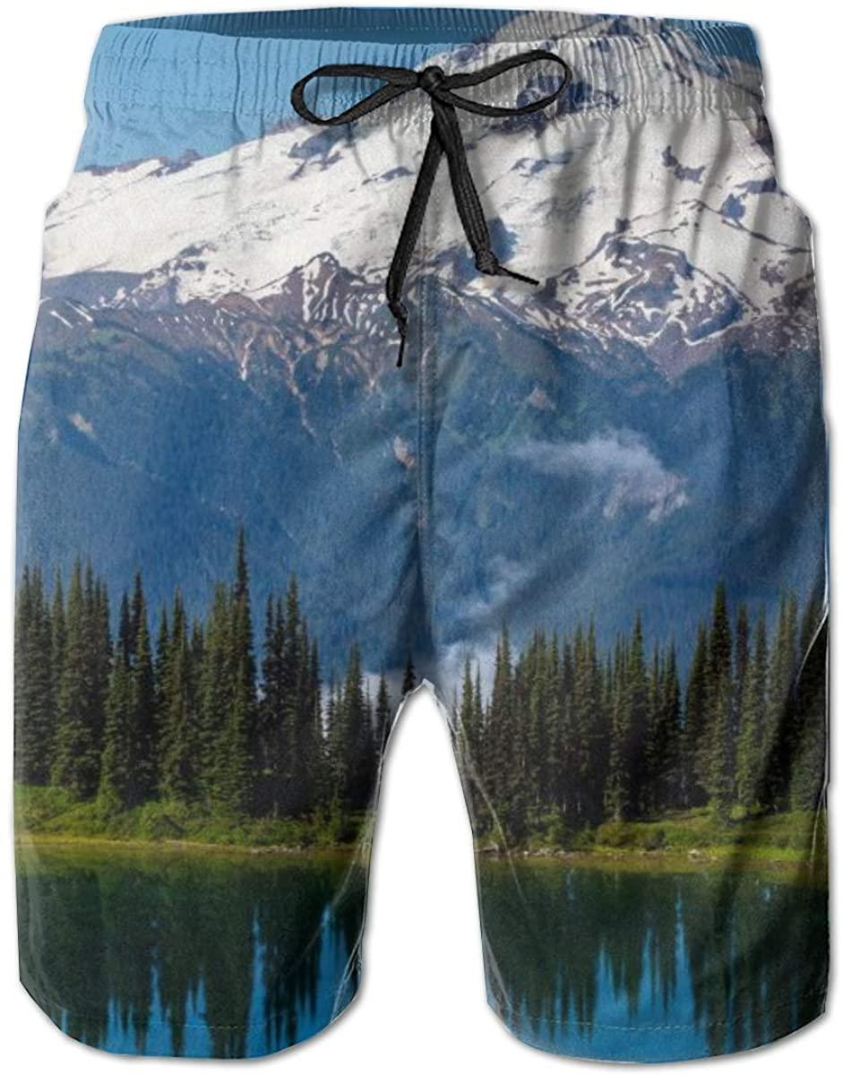 Men Swimtrunks Board Shorts Glacier Peak Novelty Surfing Beach Summer Outfit Pants