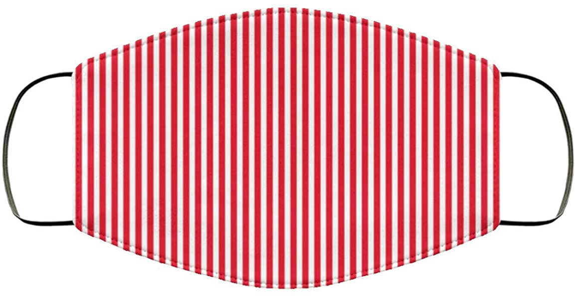 Red Striped, Face Mask Adult Size, Reusable, Washable, 2 Layer Breathable Comfort