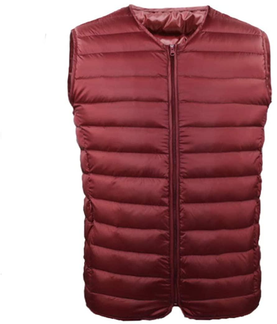 LUCACO Men's Packable Ultra Lightweight Down Vest Outdoor Puffer Vest