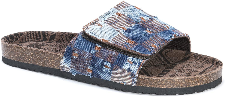 MUK LUKS Men's Jackson Sandals-Blue Slide