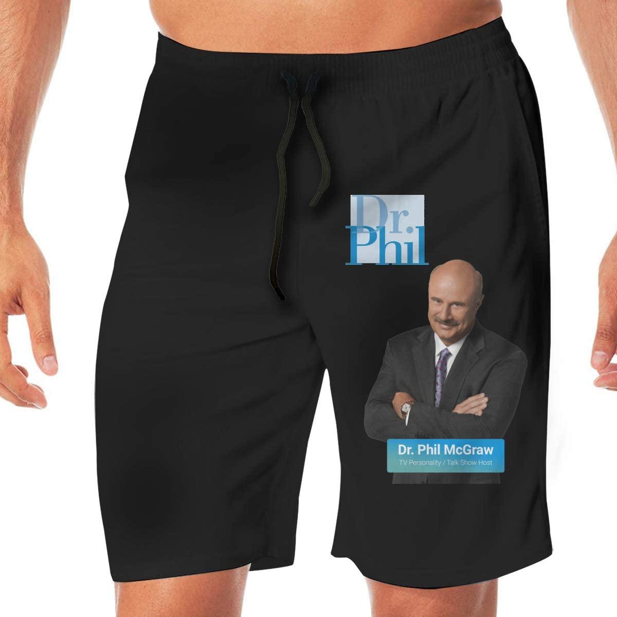 Dr Phil Beach Shorts for Men Swim Trunks Swimwear Boardshorts Summer Suits