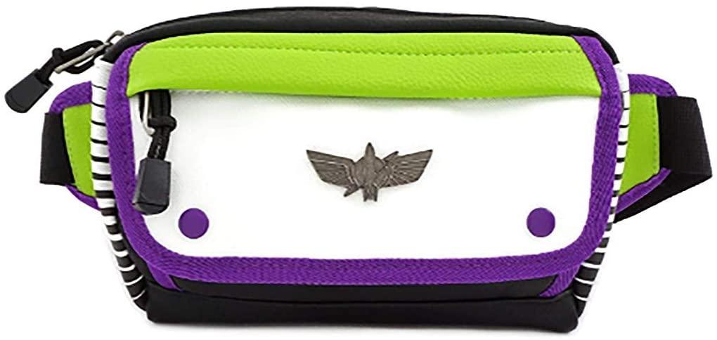 Loungefly x Toy Story Buzz Lightyear Space Ranger Waist Bag, Conifer,Purple,White, Standard
