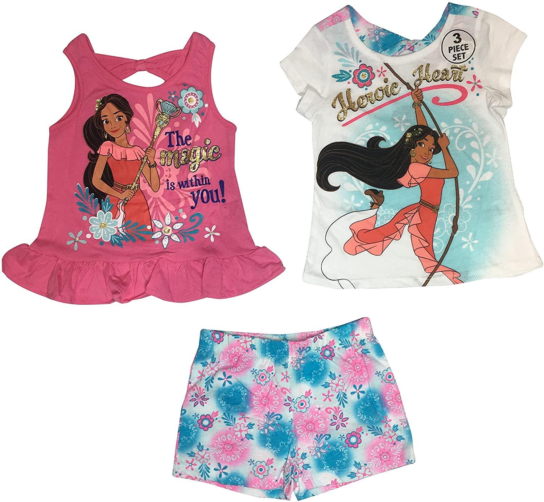 Elena of Avalor Disney Toddler and Little Girls' Heroic Heart 3 Piece Short Set