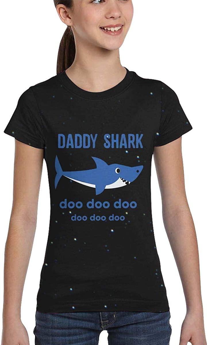 Daddy Shark Doo Doo Teen Girls Children T-Shirt