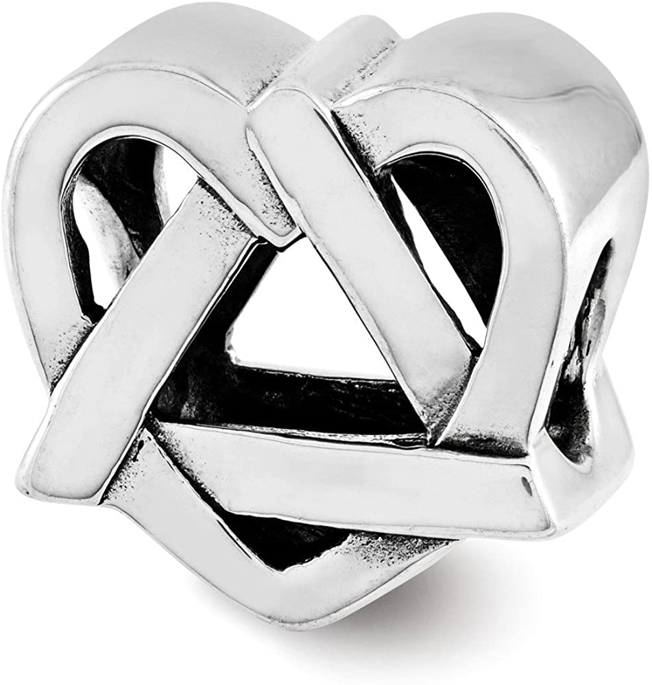 Bead Charm White Sterling Silver Themed 10.91 mm 11.82 Adoption Symbol