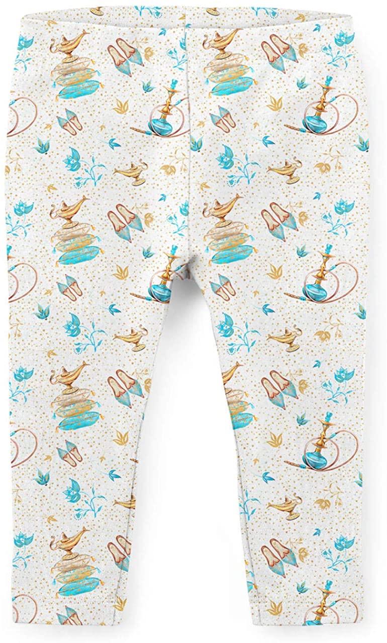 Youth Leggings - Princess Jasmine Icons on White Disney Inspired