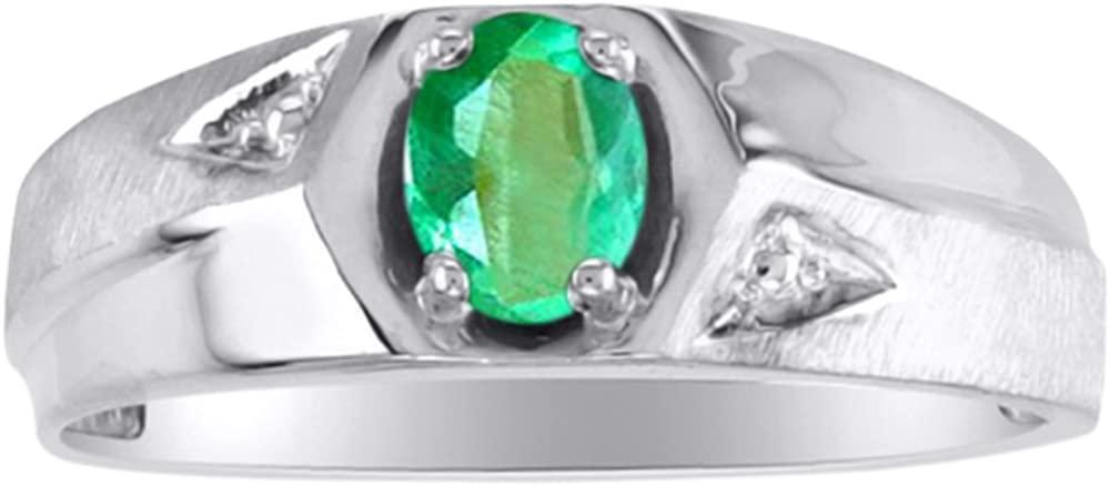 Emerald Ring 14K Yellow or 14K White Gold