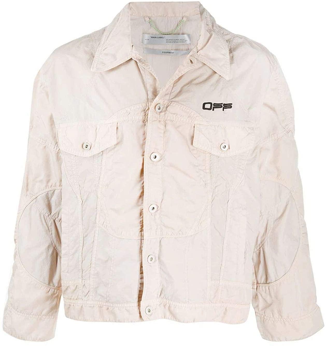OFF-WHITE Luxury Fashion Man OMKI010S20I020260610 Grey Polyamide Jacket | Spring Summer 20