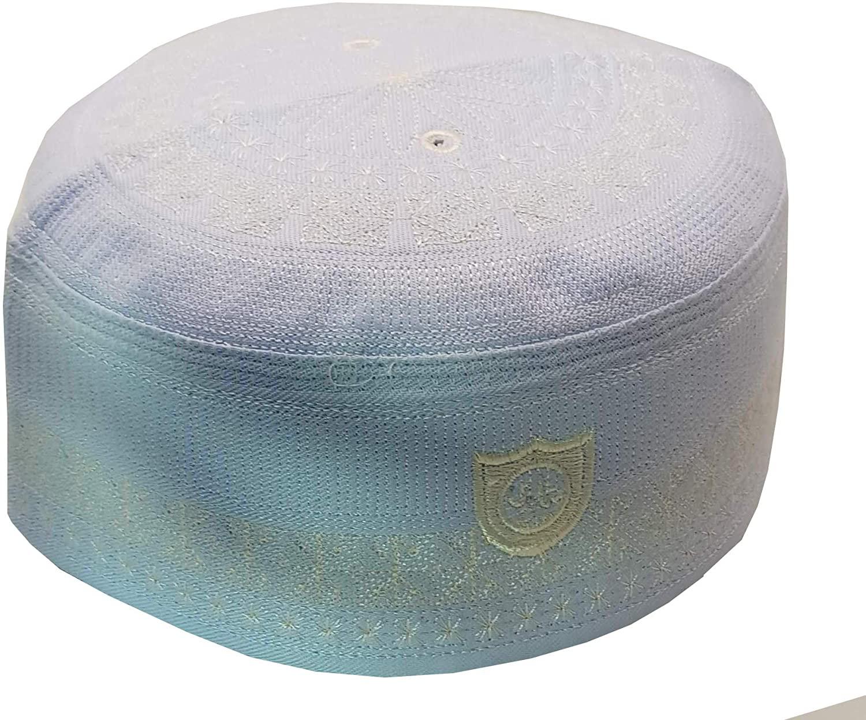 Alwee ALW009 Muslim Kufi Hat Prayer Cap Headware Islamic Skull Cap Ramadan Eid Gift