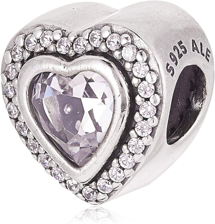 PANDORA Sparkling Love Sterling Silver Charm - 797608CZ