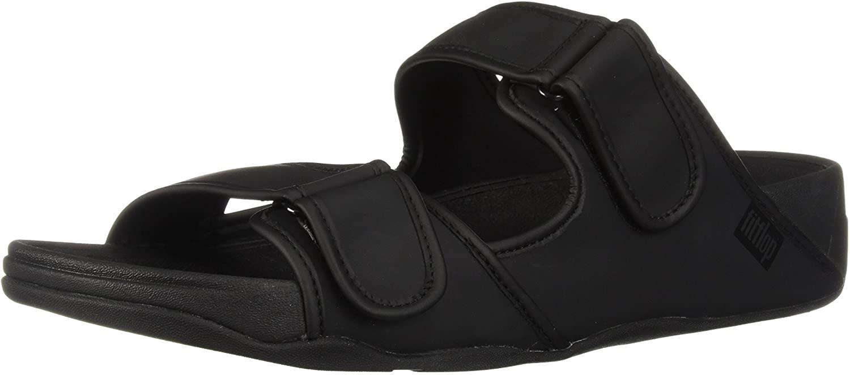 FitFlop Mens Gogh Moc Adjustable Slide Sandals-Neoprene