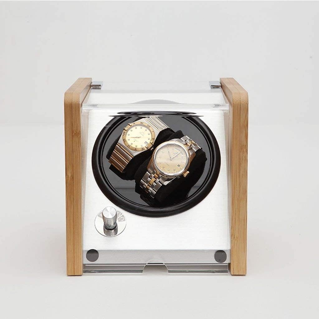 JN Watch Display Storage Box/Watch Box - Watch Bag Watch Display Box Shake Table Turntable Jewelry Storage Box Electric Rotating Watch Box/High-end Storage Watch Box (Color : A)