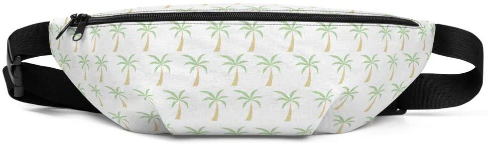 Summer Fanny Pack | Palm Tree Print | Waist Pack for Women and Men | Hip Belt