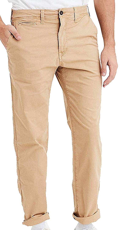 American Eagle Men's 4006872 Ne(X) t Level Original Straight Khaki Pant, Field Khaki (32x34)