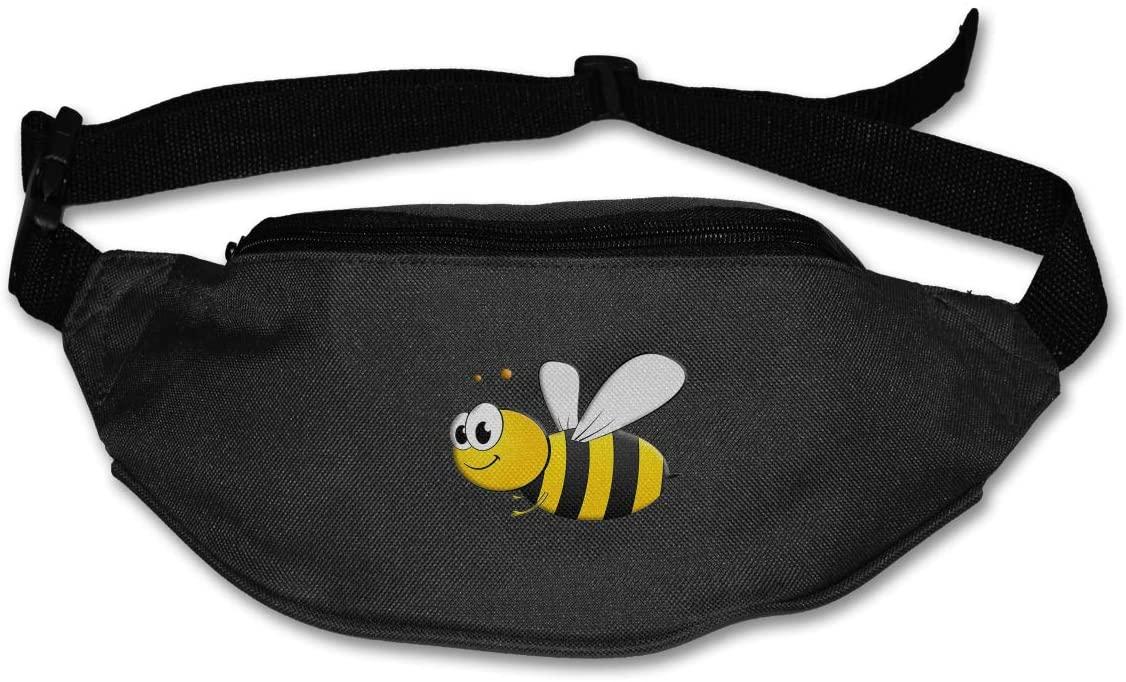 SWEET-YZ Unisex Waist Pack Cute Bee Flat Fanny Bag Pack for Sport Running