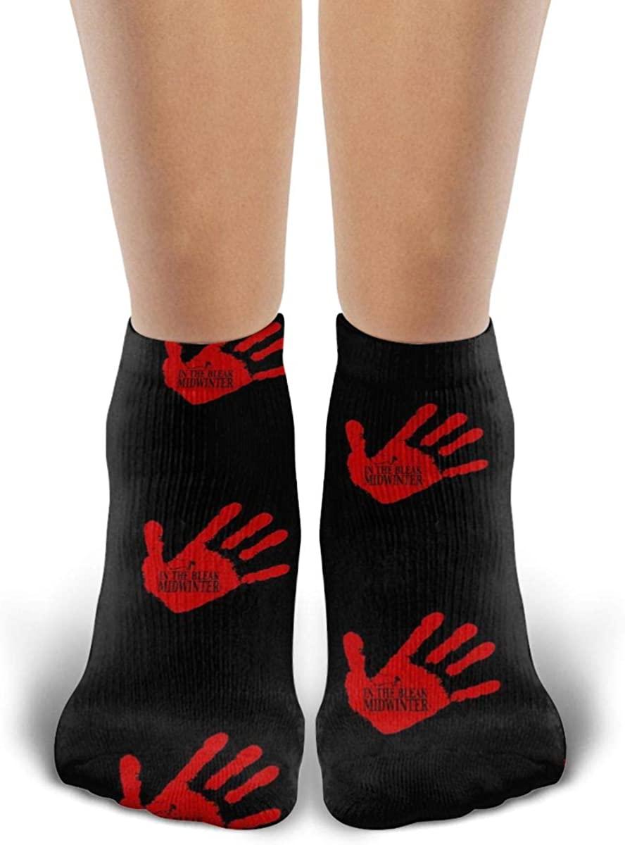Unisex Red Right Hand Socks Novelty Ankle Socks Casual Funny Socks Sports Socks For Men Womens