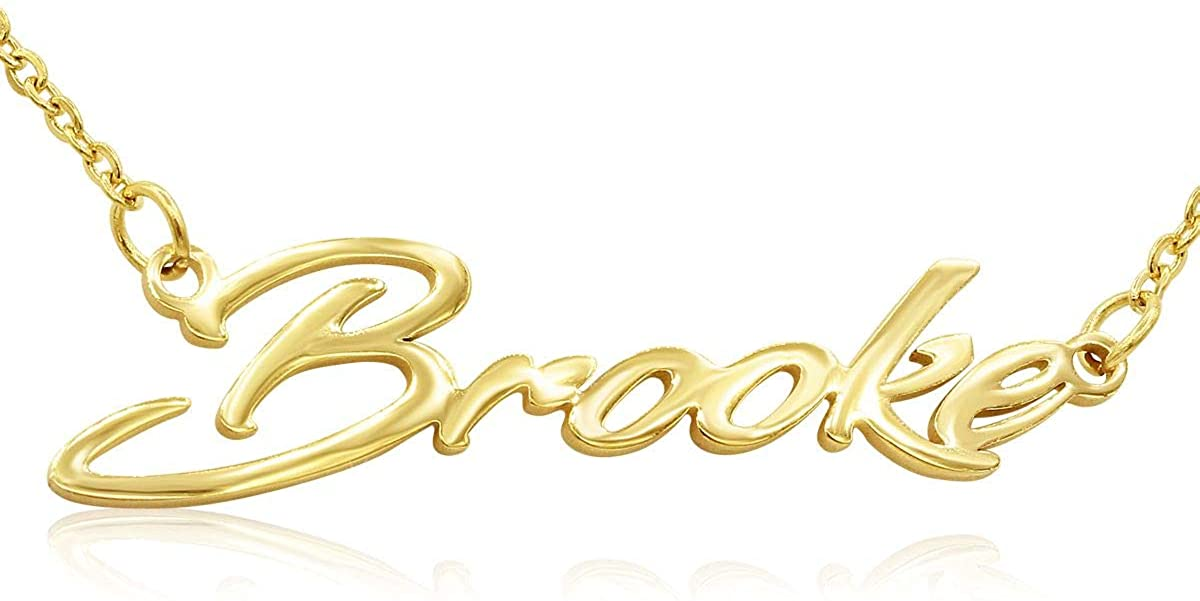 Beam Reach Custom Name Necklace Personalized in Gold Tone, Choose Your Name, 18 Inches