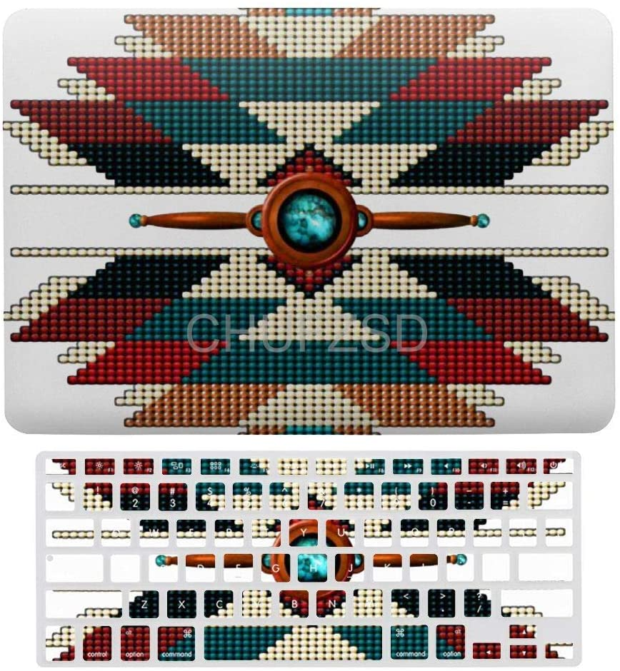 Southwest Native American Sunburst Laptop Keyboard Cover Screen Protector Shell Set for MacBook Air 13 New Pro 13 Touch
