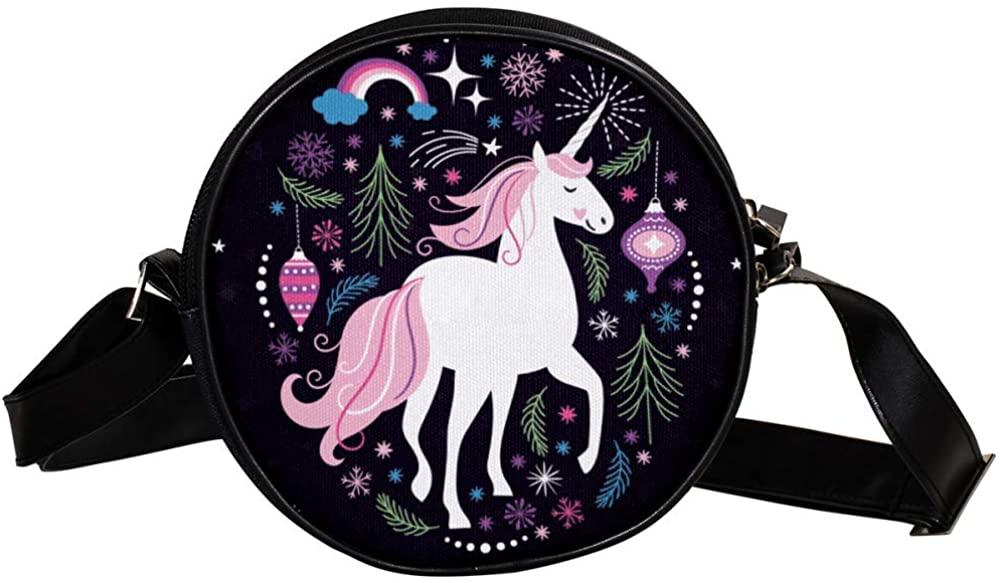 Coin Purse For Kids Rainbow Unicorn Mini Crossbody Bag Girls Wallet