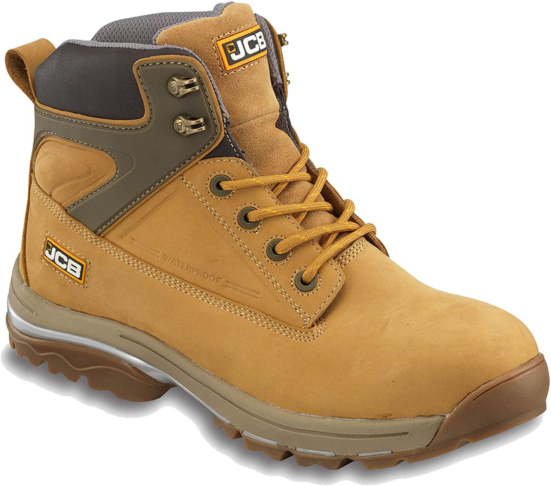 Jcb Mens Fast Track Waterproof Leather Steel Toe Boots