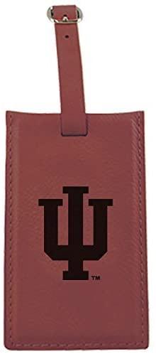 Indiana University -Leatherette Luggage Tag-Burgundy