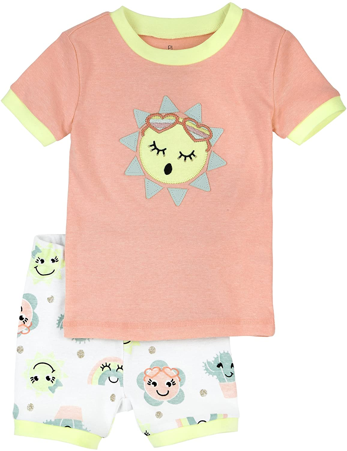 Petit Lem Little Girls' Emoji Sunshine Pajama