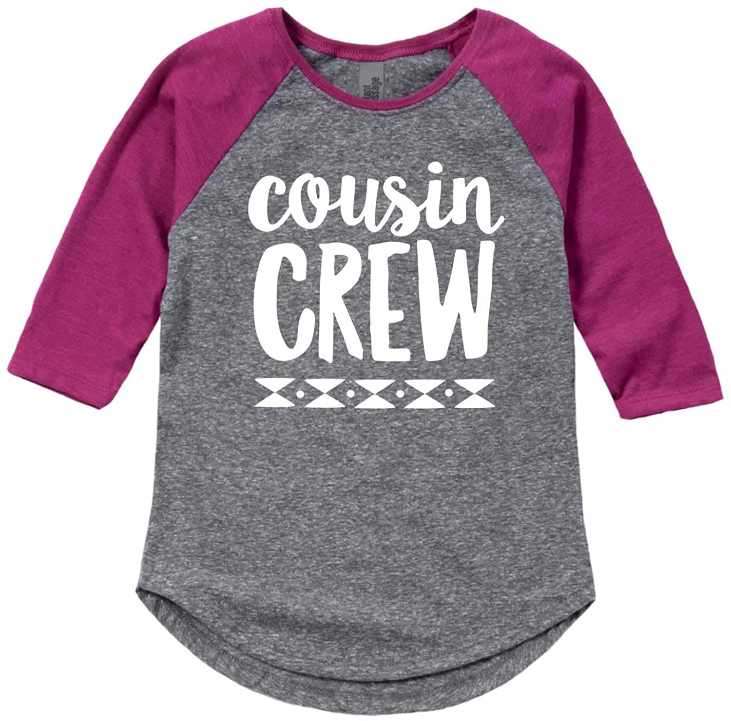 Cousin Crew Wt-Girls Shirt Tail Raglan