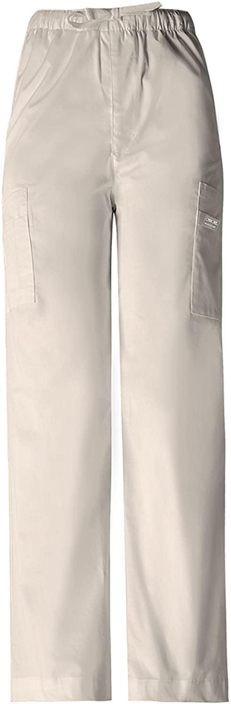 CHEROKEE Scrubs Workwear Premium Mens Drawstring Cargo Scrub Pant (Khaki, L)