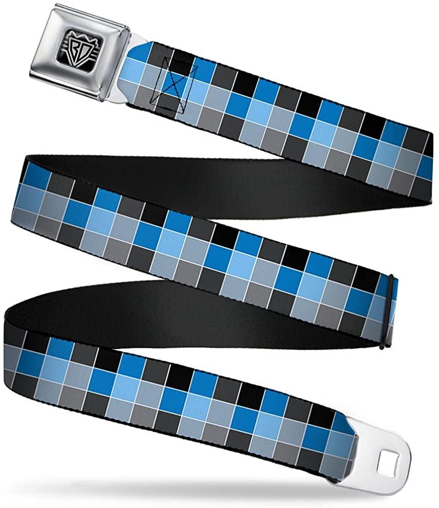 Buckle-Down Seatbelt Belt - Checker Mosaic Blue - 1.5