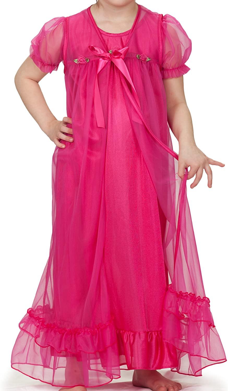 Laura Dare Fuschia Peignoir Set - Gown and Robe