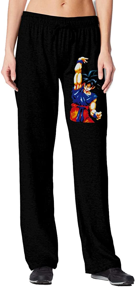 Cool Mens Unisex Dragon Ball Goku Womens High Waisted Sweatpants Joggersbaggy Workout Pants with Pockets Lounge Trousers