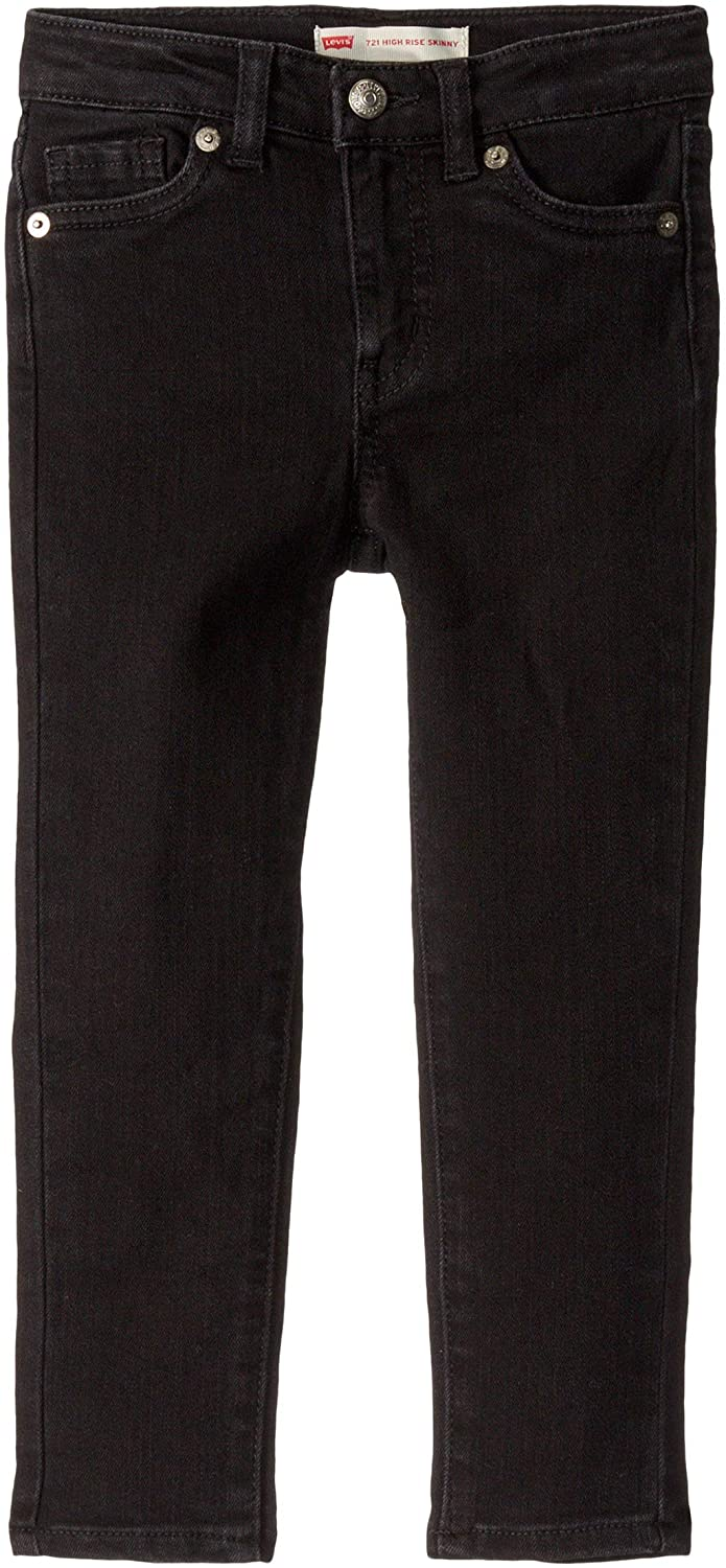 Levi's  Kids Girl's 721 High-Rise Skinny Fit Jeans (Little Kids) Soft Black 4 (Little Kids)