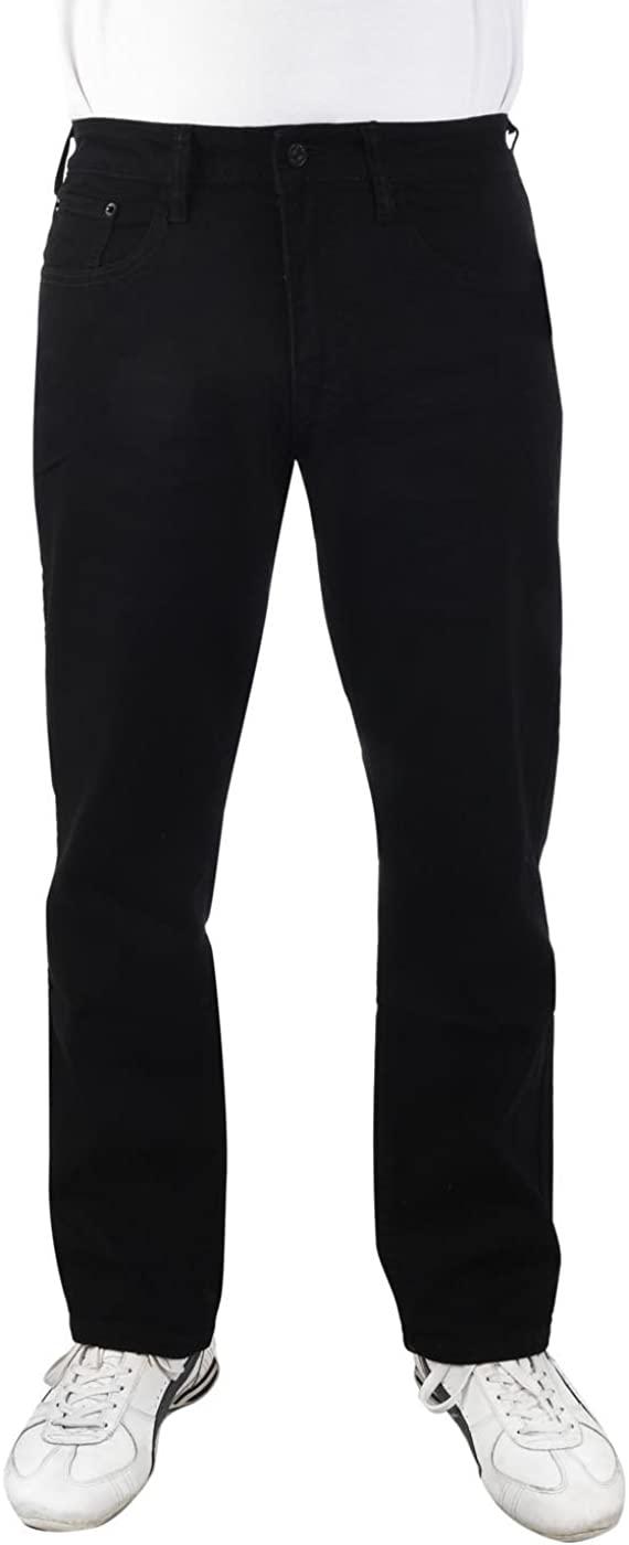 IZOD Men's Comfort Stretch Straight Fit Jeans Black