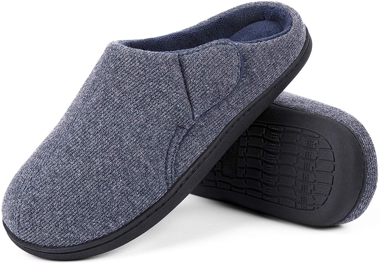 ULTRAIDEAS Women's & Men's Memory Foam Slip-on Slippers Anti-Skid House Shoes with Adjustable Straps, Indoor/Outdoor
