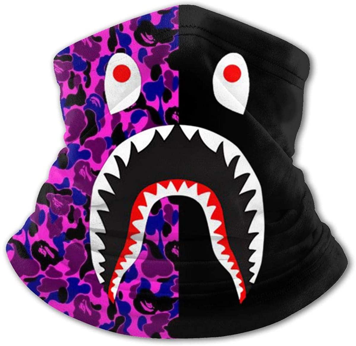 Bape Blood Shark Youth Face Mask Bandanas Neck Gaiter Headband Boy Girl Scarf Balaclava for Cycling Hiking Sport