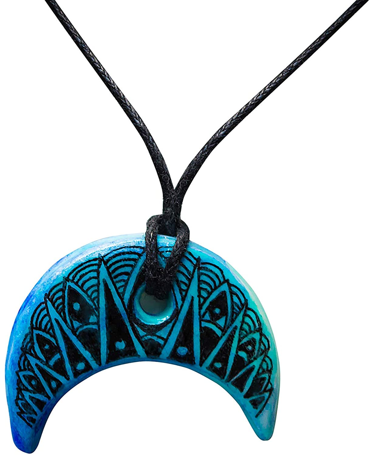 Handmade Art necklace Clay pendant Unique graphic pendant Clay charm Hand made jewelry