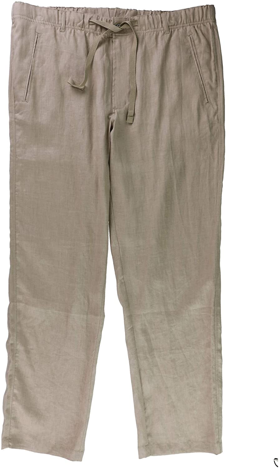 Tasso Elba Mens Drawstring Casual Linen Pants