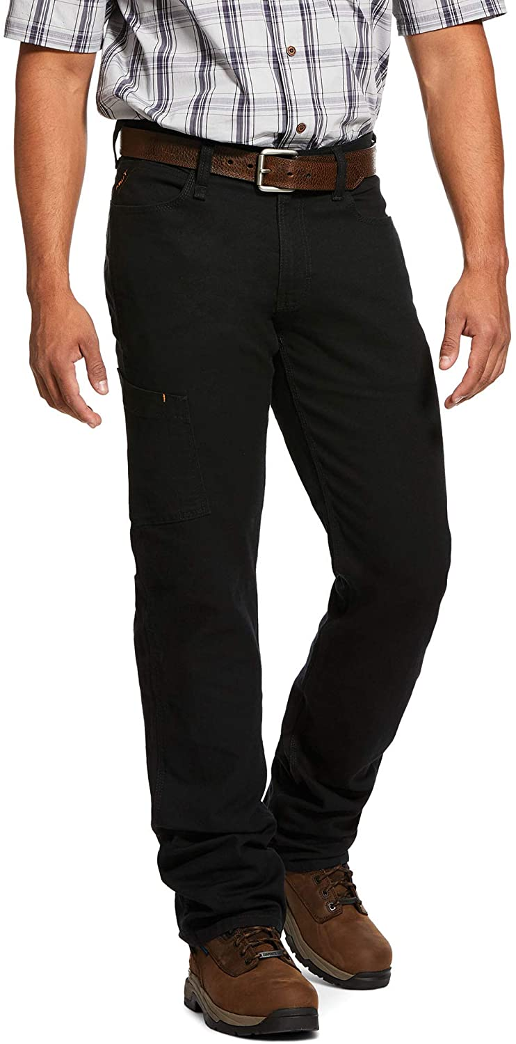 ARIAT Men's Rebar M4 Low Rise Durastretch Made Tough Stackable Straight Leg Pant Black Size 28W X 32L