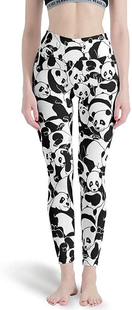 Panda Animal Women's 3D Printed Leggings Comfortable Yoga Pants Art for Gym Jogging