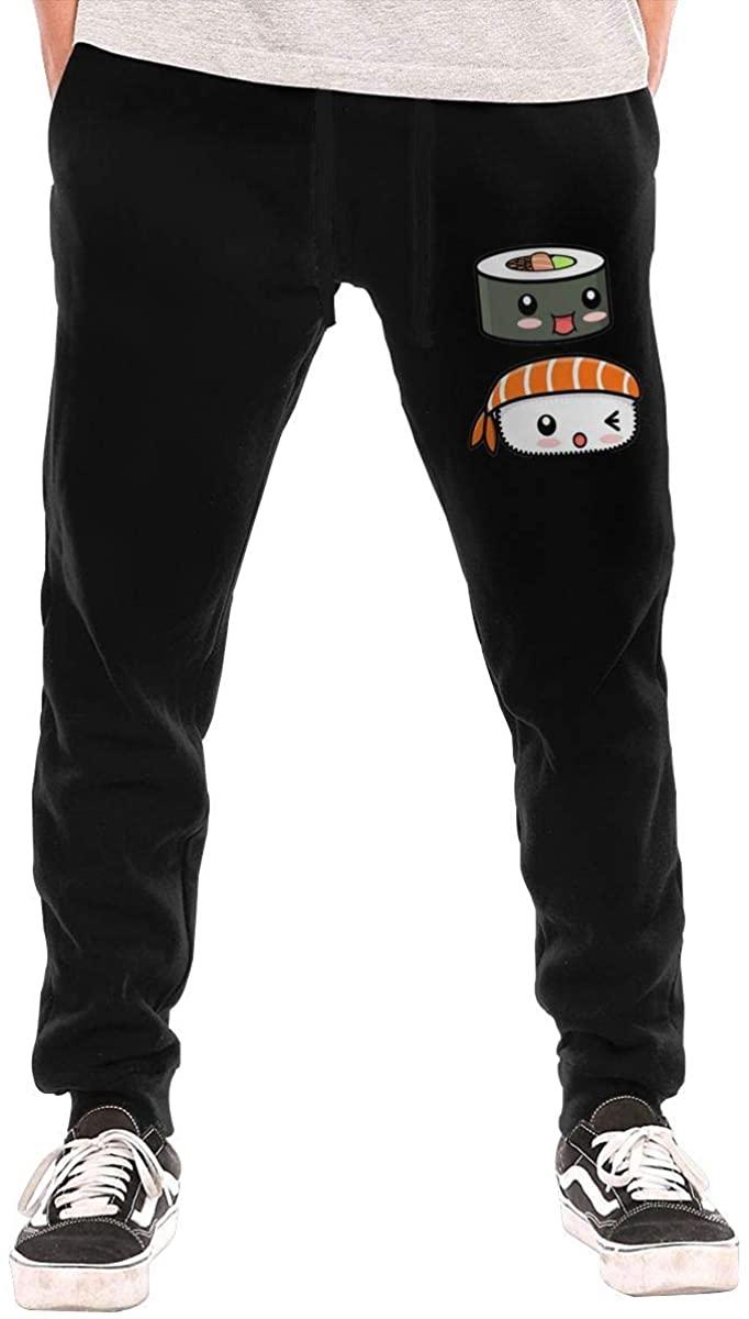 Five5 Kawaii Sushi Men's Casual Jogger Drawstring Waist Long Sweatpants with Pockets