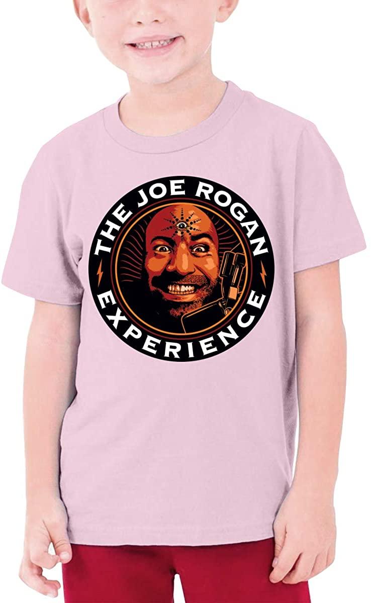 Boys and Girls Teens Short Sleeve T-Shirt The Joe Rogan Experience Unique Retro Design Pink